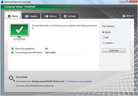 Microsoft Security Essentials is surprisingly excellent