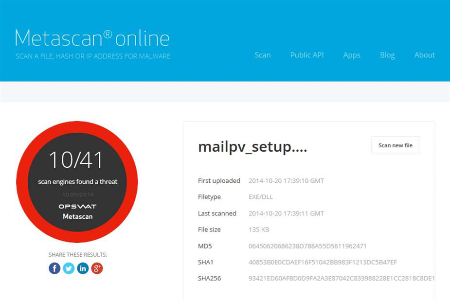 Check downloads and websites for malware with Metascan Online for Firefox