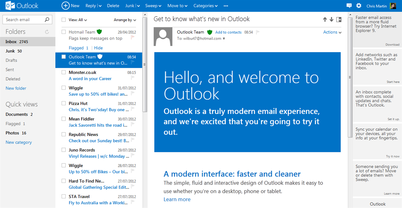 New features are coming to Outlook.com
