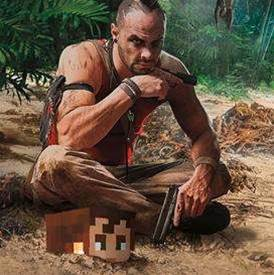 Minecraft + Far Cry 3 = weird, but kinda cool...