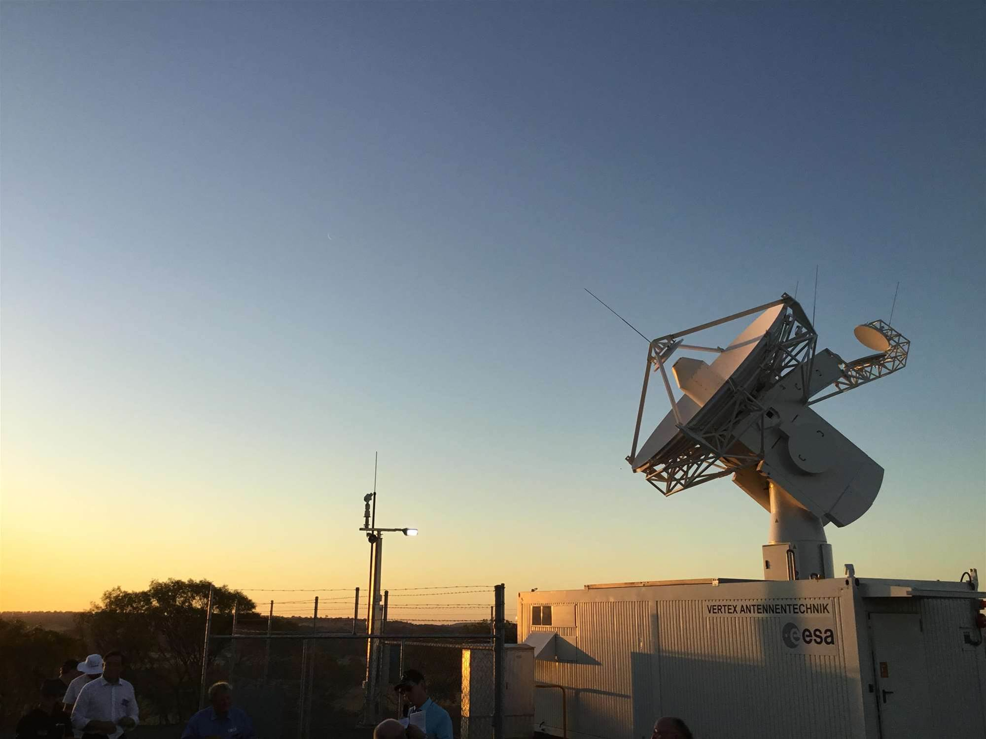 European satellite tracking dish ready for service in WA