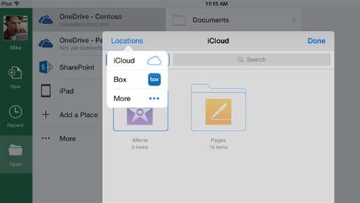 Microsoft widens Office third-party cloud storage options