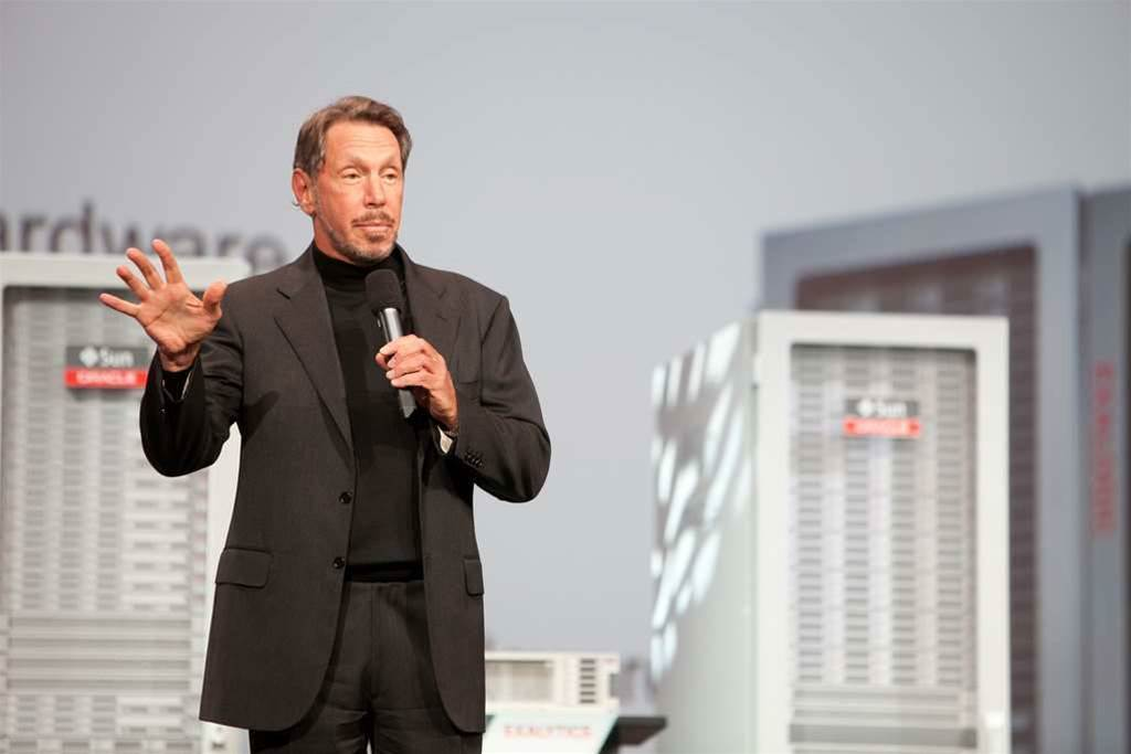 Oracle soars in software, but hardware sales lag
