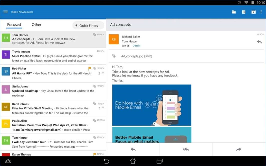 Outlook for Android out of preview