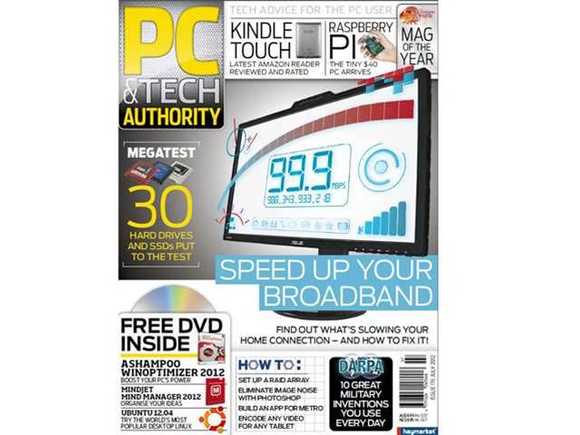 Latest issue of PC & Tech Authority out now! Speed up your broadband