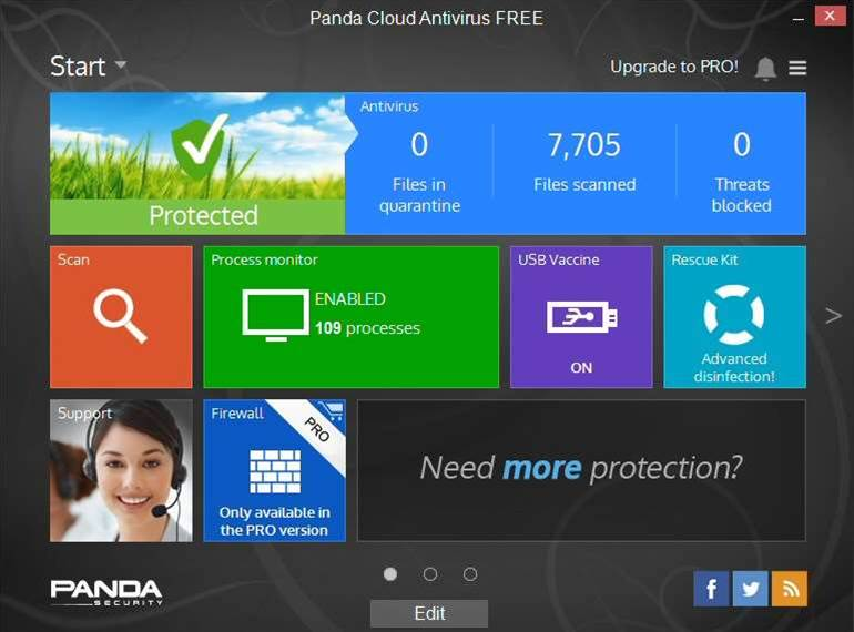Panda Cloud Antivirus 3.0 FREE adds scheduler