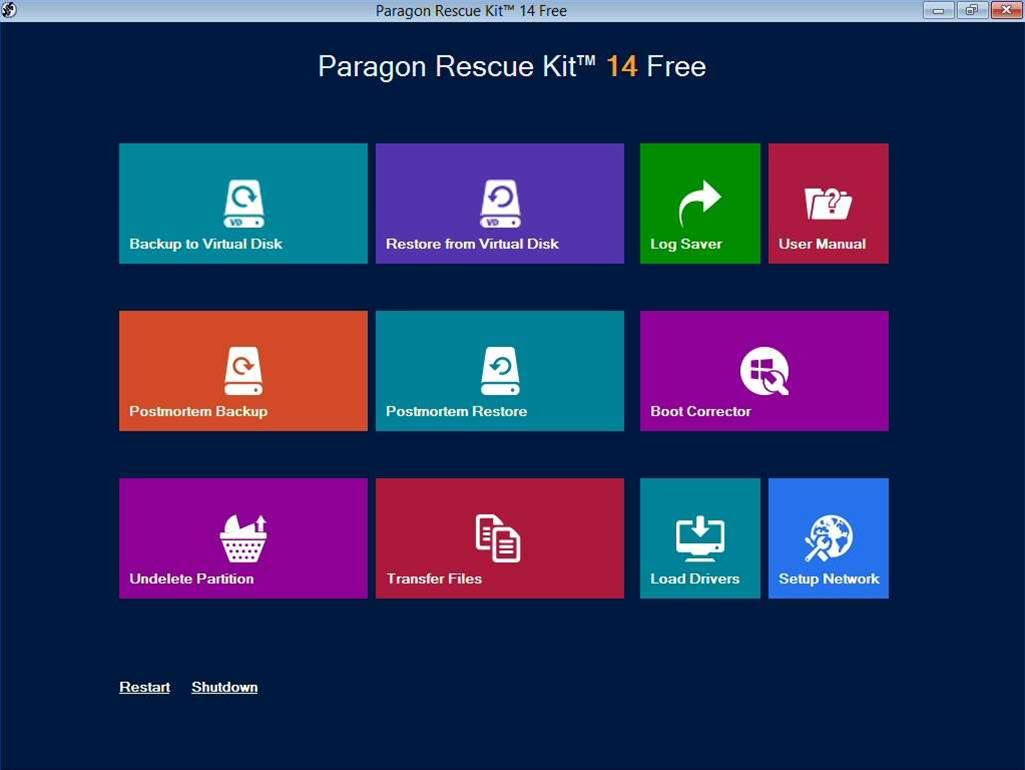 Paragon Rescue Kit 14 adds virtual disk support