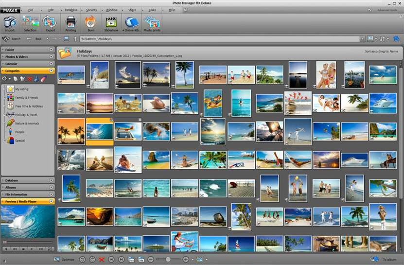 MAGIX Photo Manager MX Deluxe adds panorama creation, video slideshows, travel route animation