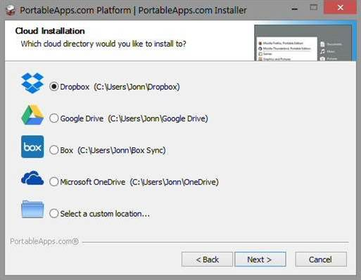 PortableApps.com Platform 12 adds app menu