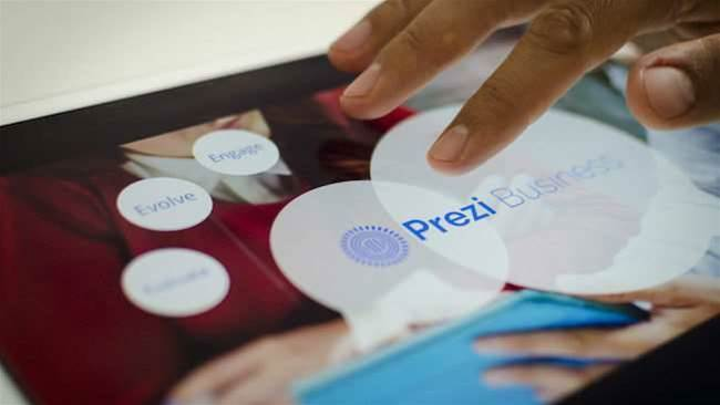 Prezi Business offers advanced presentation tools