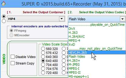 SUPER 2015 Build 65 gets H.265 support