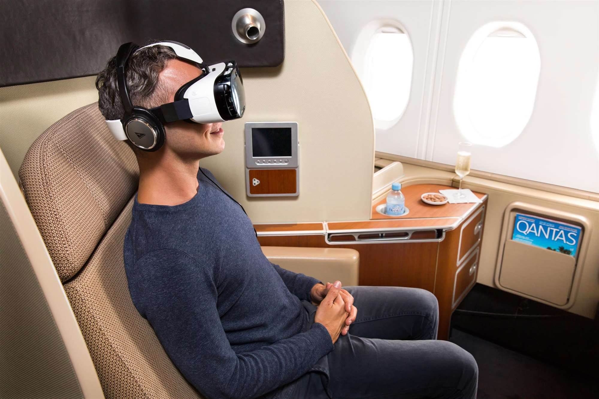 Qantas to offer virtual reality headsets in first class