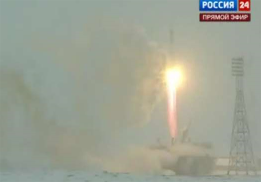 Video: Soyuz Launches for First Manned Trip to ISS Since the Shuttles Retired