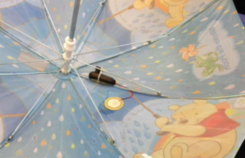 Turn Your Umbrella Into A Mobile Weather Station