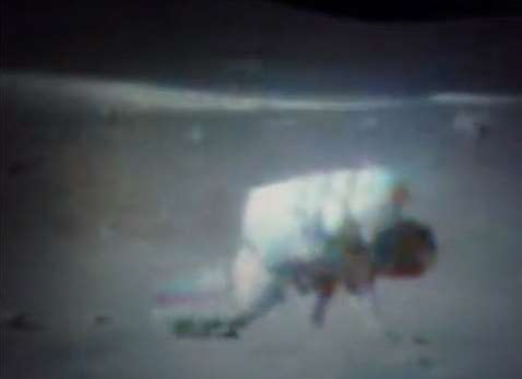 Video: Astronauts Falling Down and Finding It Difficult to Get Up, on the Moon