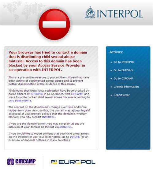ISPs opt into Interpol child abuse filter