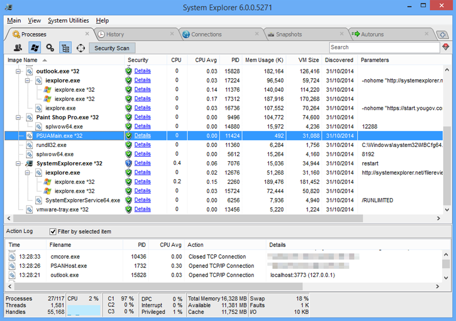 System Explorer 6 improves process tracking