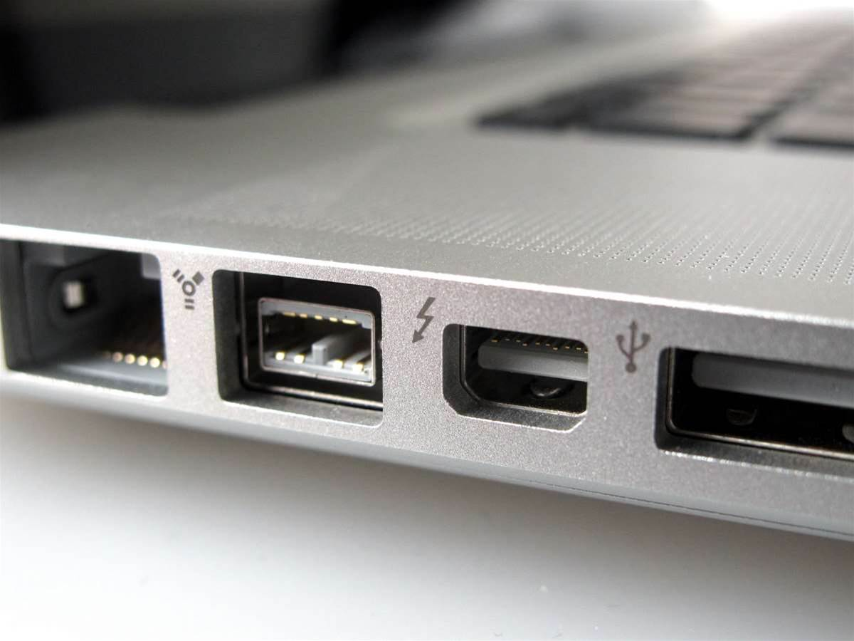 Mac Thunderbolt ports support fibre
