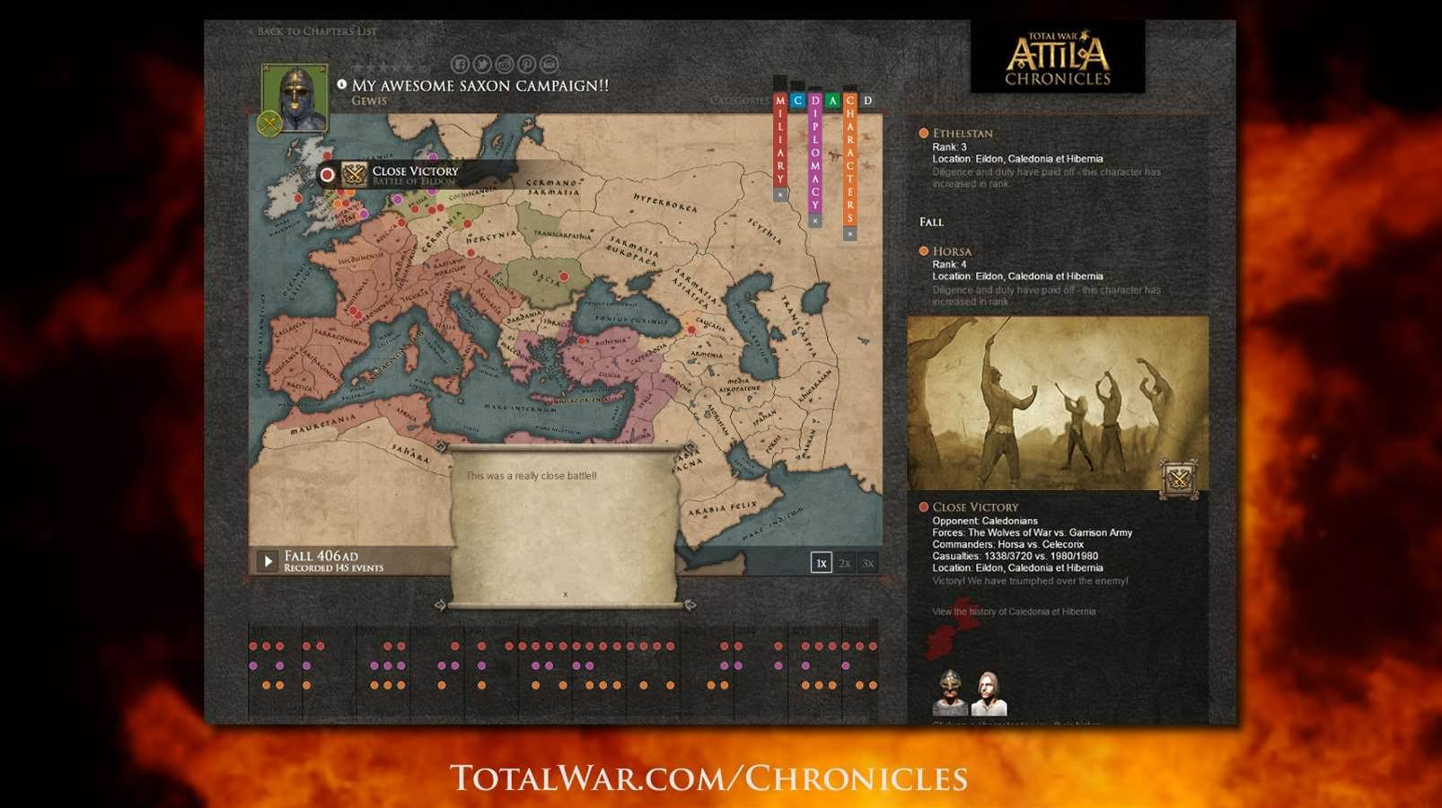 Total War Chronicles lets you upload and share your Attila campaigns