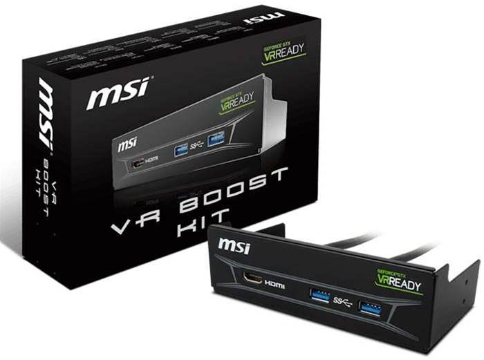 MSI boosts virtual reality with the aptly named VR Boost Kit