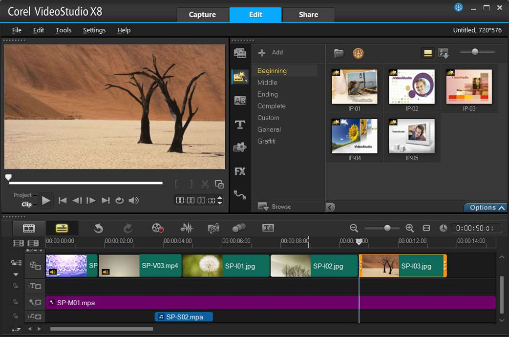 Corel VideoStudio X8 adds Freeze Frame effect