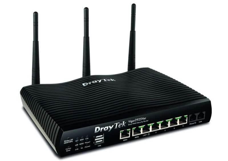 Review: Draytek Vigor 2925Vac dual WAN wireless router