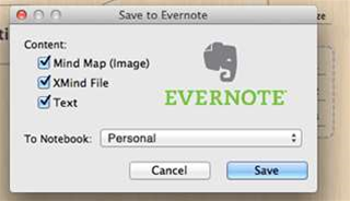 "XMind 6 adds ""export to Evernote"""