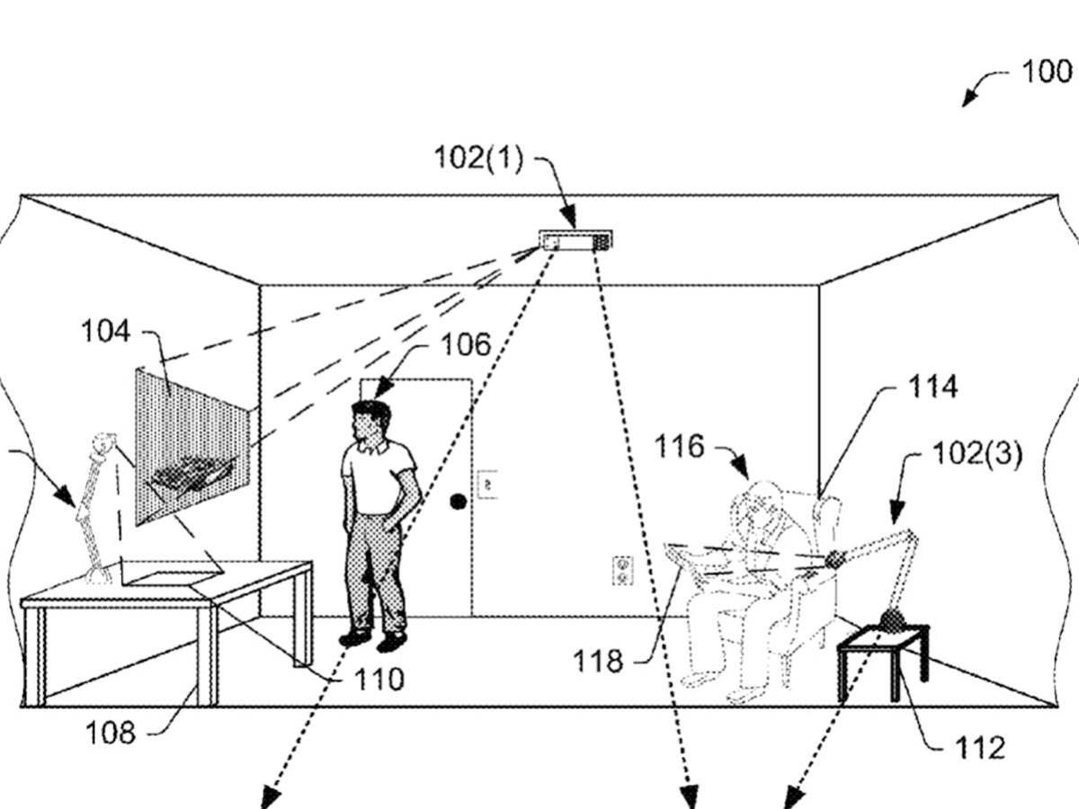 Amazon wants to put headset-free augmented reality all over your room