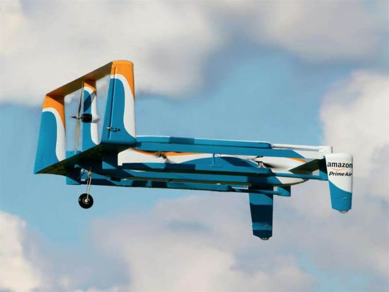 Amazon shows off its latest delivery drone