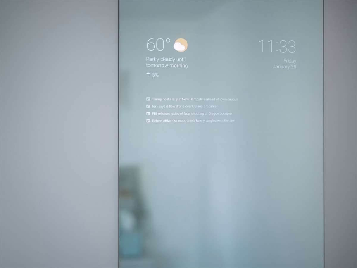 Android powers the smartest bathroom mirror we've ever seen