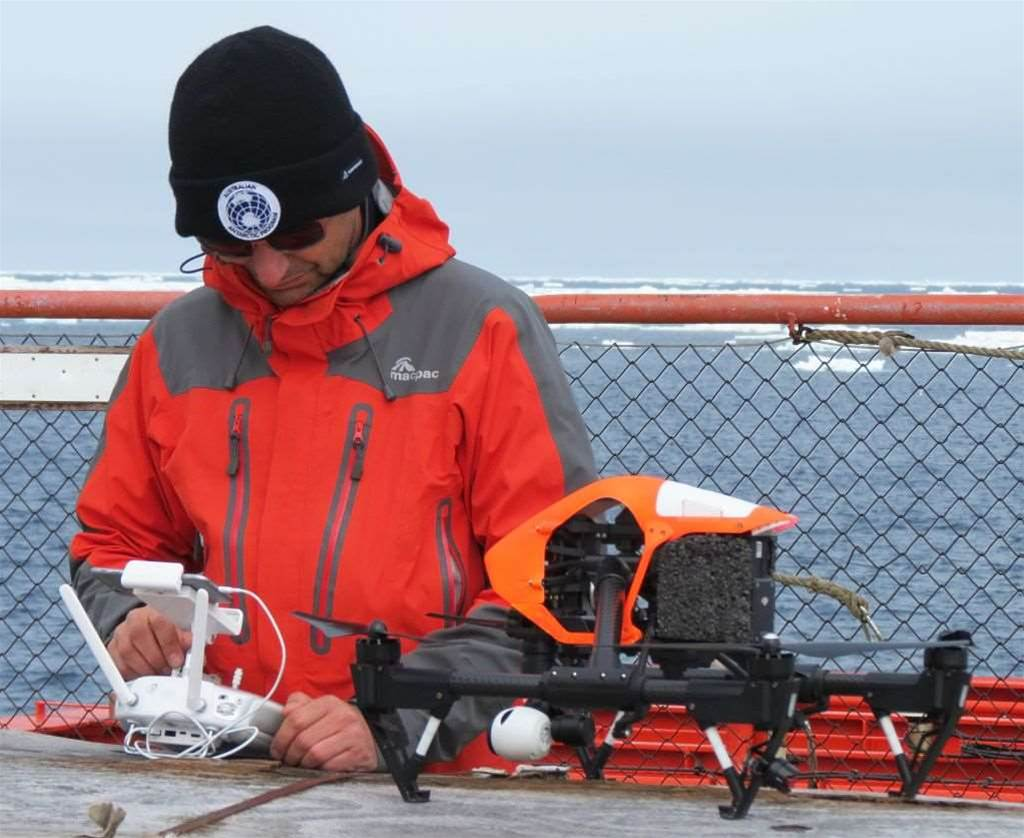 Australia's Antarctic flagship deploys drone to navigate sea ice
