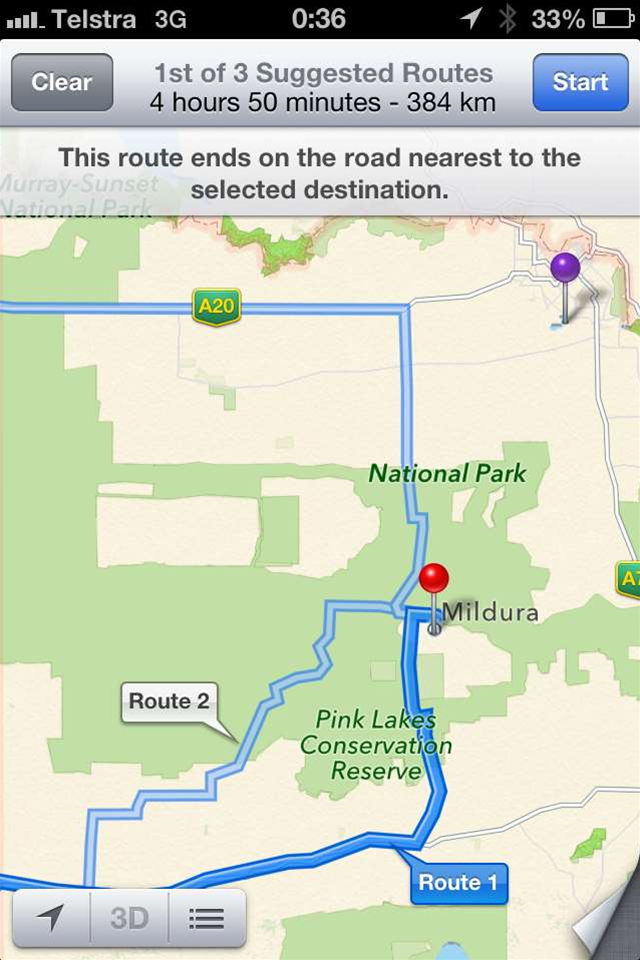 Apple Maps strands Australian drivers