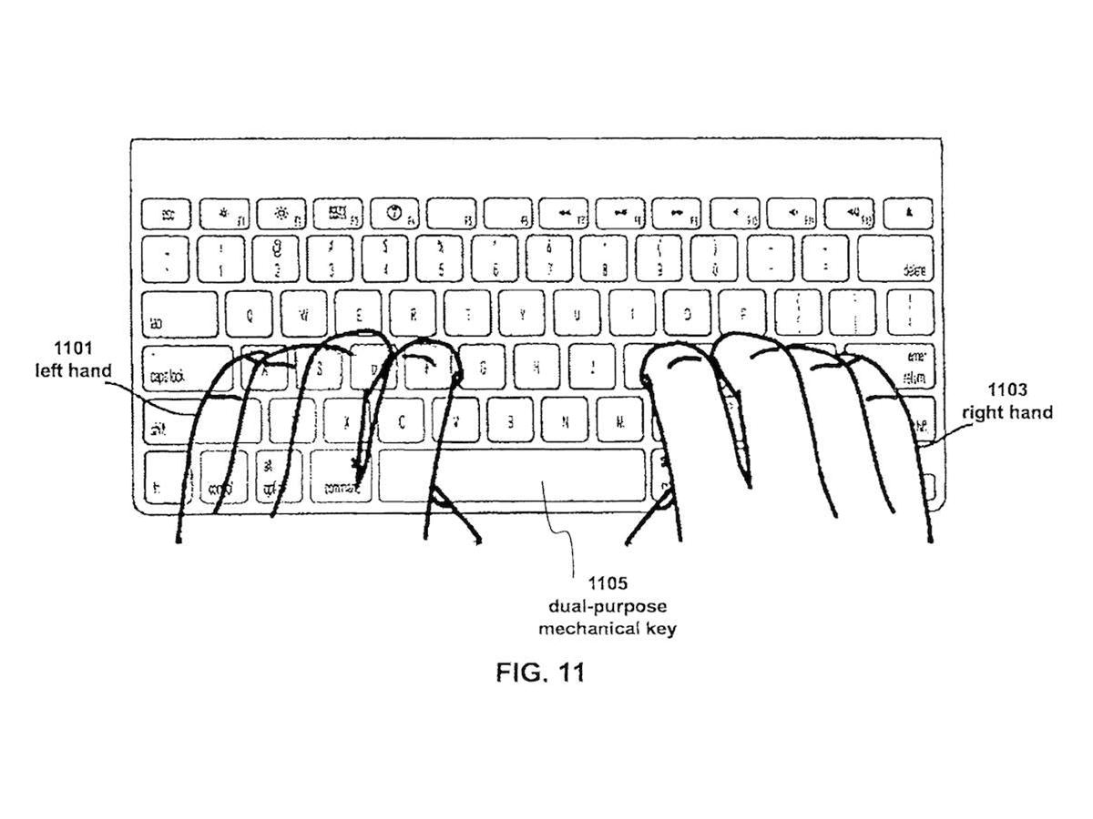 Apple patents mechanical keyboard with multitouch keys