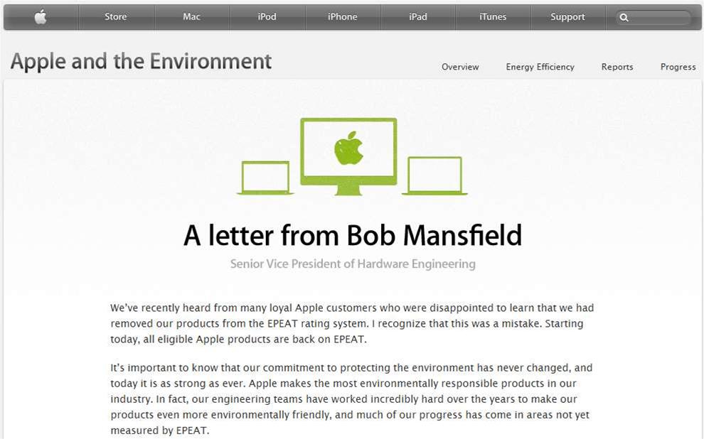 Apple turns green again