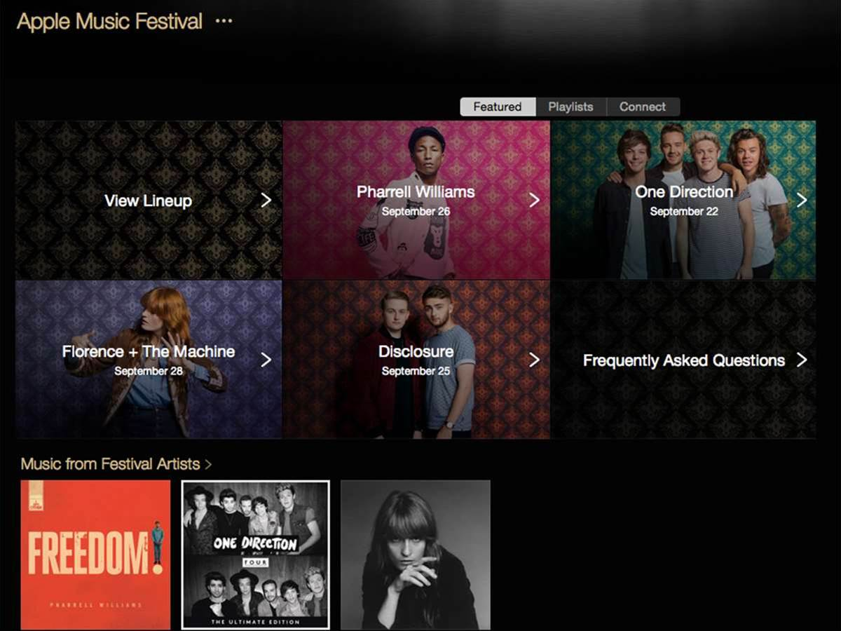 The Apple Music Festival will stream straight to the Apple Music app