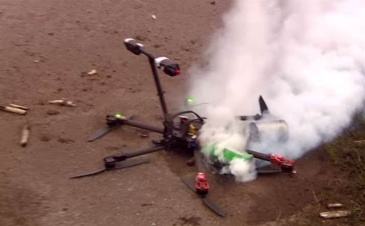 Asparagus Delivery Drone Catches Fire In Netherlands