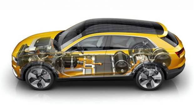 Audi joins the hydrogen fuel cell party with a 600km range SUV