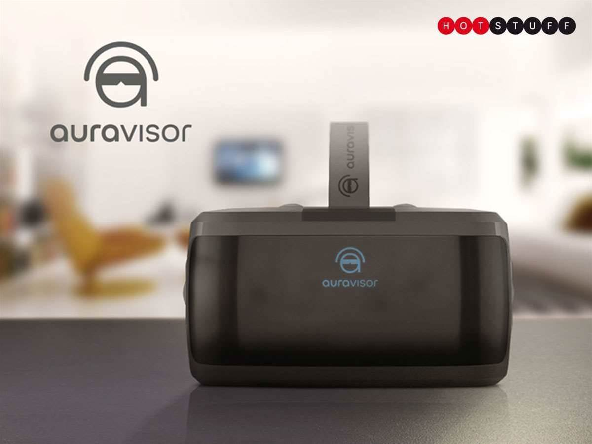 The AuraVisor VR headset cuts the cables