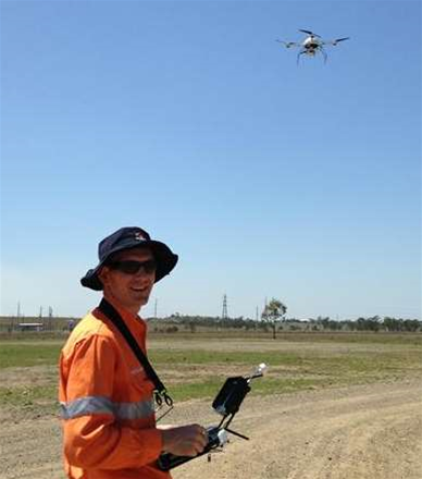 Aurizon uses drones to inspect rail assets