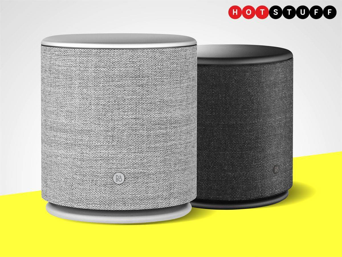 BeoPlay M5 is a big, beautiful cylinder of bass