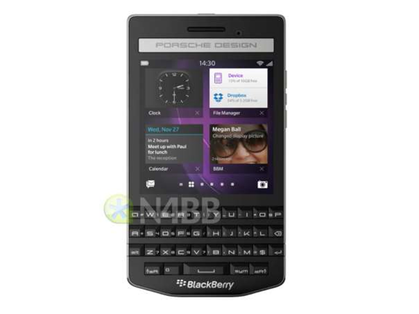 Porsche Design BlackBerry P'9983 leaks