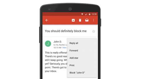 Google just made it a lot easier to block people on Gmail