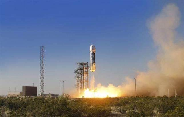 Jeff Bezos' space start-up launches test flight