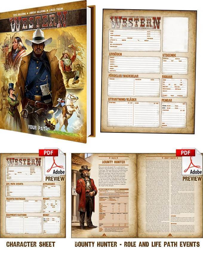 Support the English translation of Swedish tabletop RPG Western