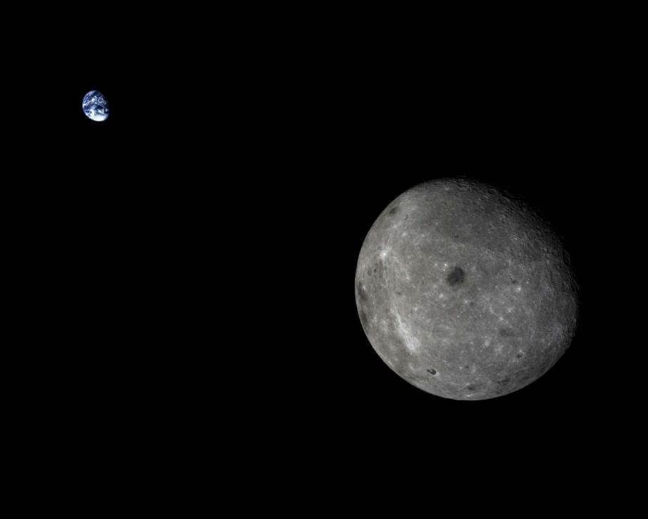 Big Pic: China's Lunar Spacecraft Snaps Trippy Pic Of The Moon And Earth