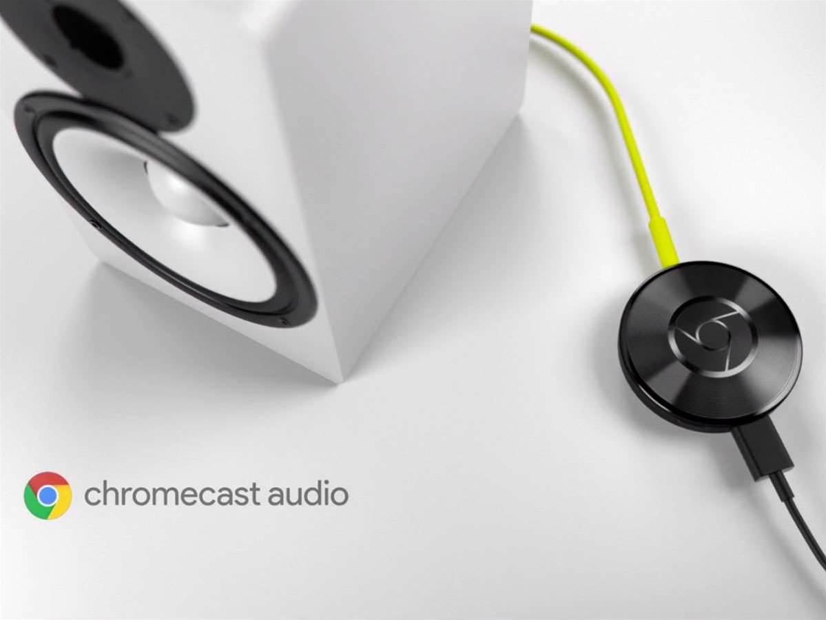 Chromecast Audio streams Spotify or Google Play Music almost anywhere