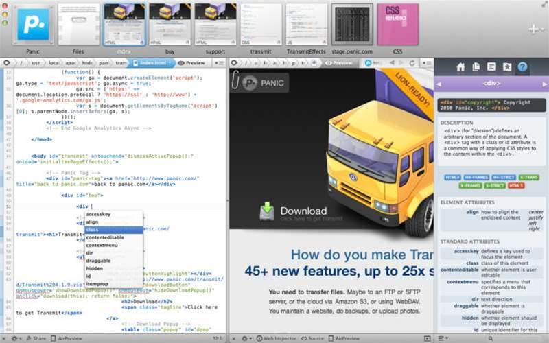 Coda 2 offers Mac web coders over 100 new and improved features