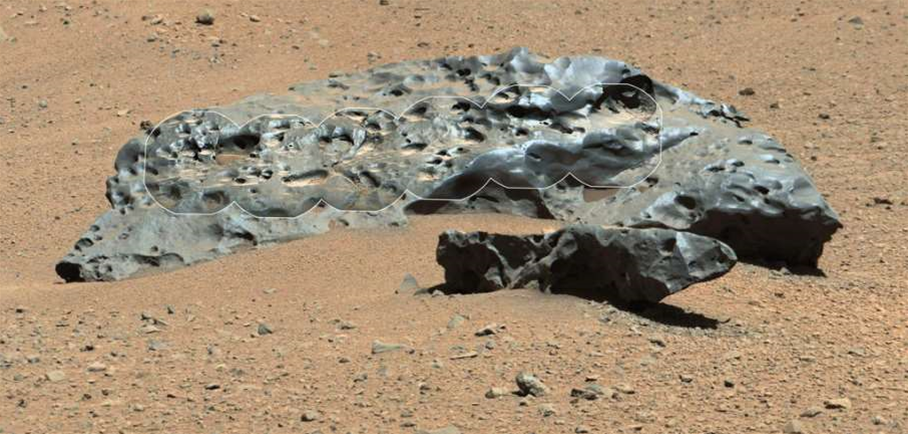 Bic Pic: A Six-Foot-Long Iron Meteorite On Mars
