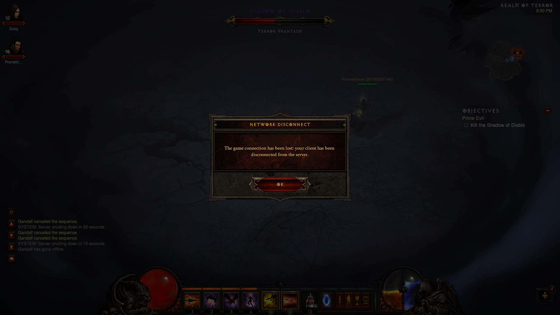 Diablo 3 Maintenance Times