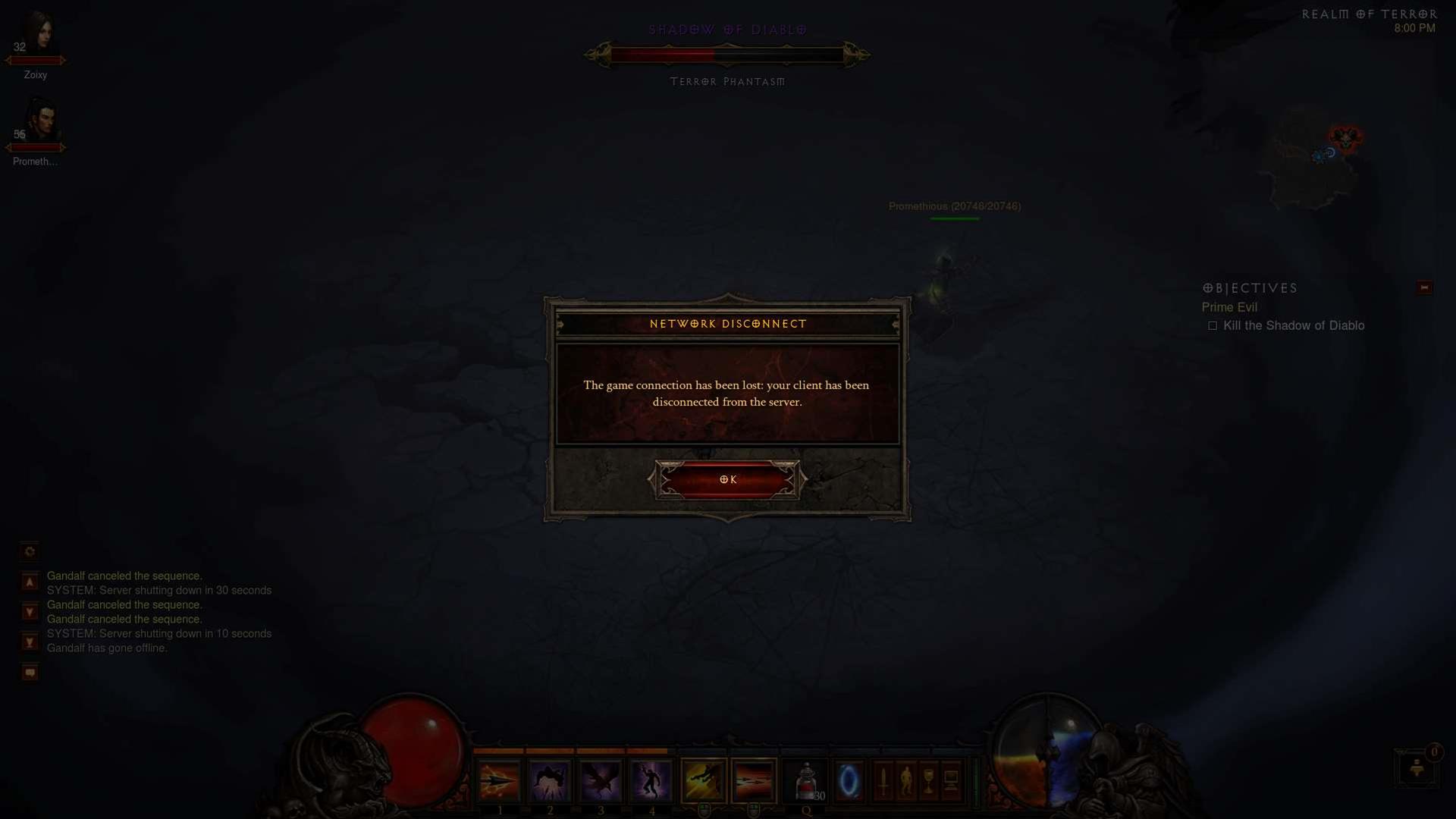 Diablo 3 Maintenance Times